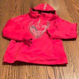 Red under armor football hoodie